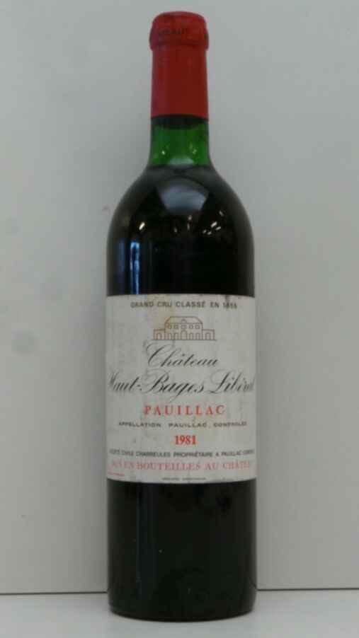 Chateau Haut Bages Liberal 1981