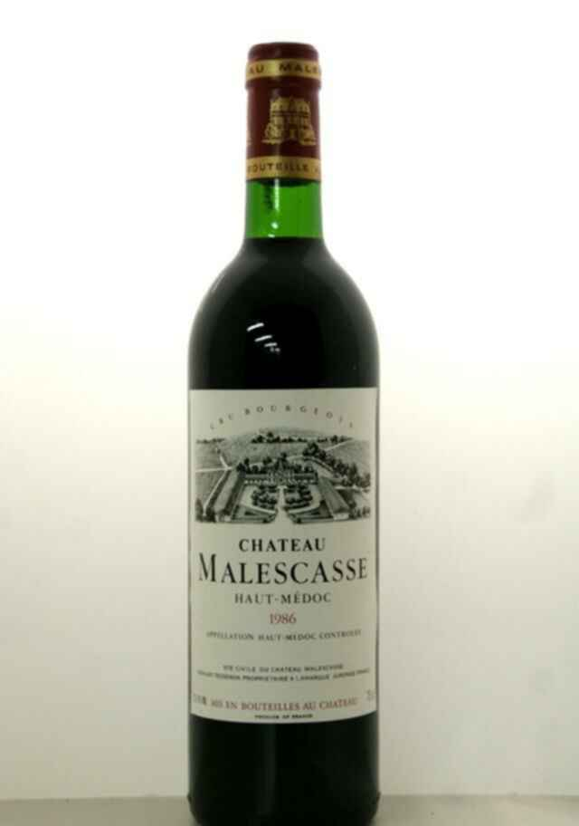 Chateau Malescasse 1986