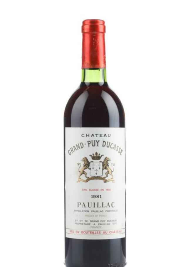 chateau grand puy ducasse 1981