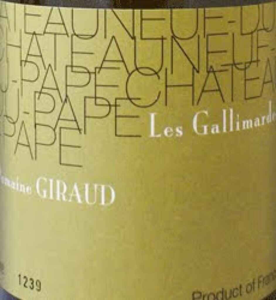 Domaine Giraud Chateauneuf-du-Pape 2007