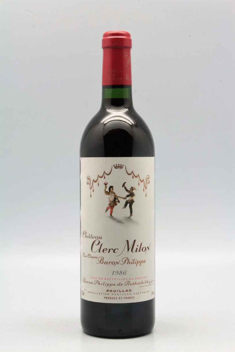 Chateau Clerc Milon 1986