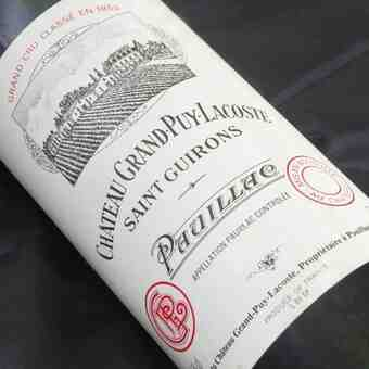chateau grand puy lacoste 1986
