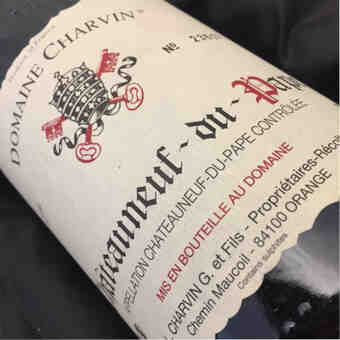Charvin , Chateauneuf Du Pape , 2012