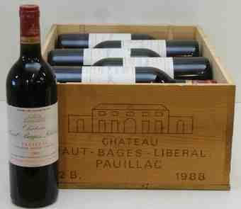 Chateau Haut Bages Liberal 1988