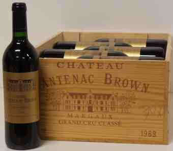 Chateau Cantenac Brown , Chateau Cantenac Brown , 1989