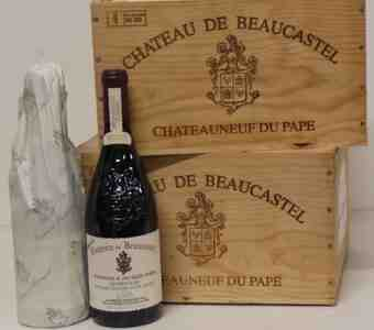 Beaucastel , Chateauneuf Du Pape  Hommage A Jacques Perrin , 2003