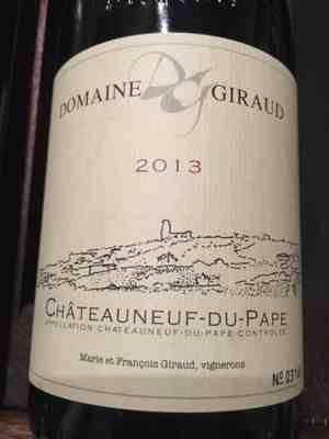 Domaine Giraud Chateauneuf Du Pape Grenache Blend 2013